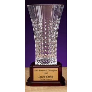 "Lady Diamond Crystal Vase (10.5"")"